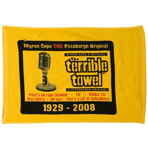 Pittsburgh Steelers Commemerative Myron Cope Terrible Towel