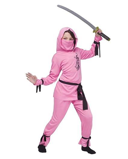 Horror-Shop Traje Rosado de la Muchacha de Ninja L: Amazon ...