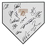 Pittsburgh Pirates 2018 Team Signed Autographed Baseball Home Plate - 13 Autographs