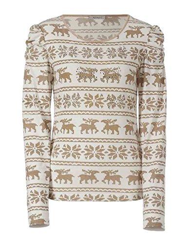 Unbekannt - Camiseta - Opaco - para mujer Camel-Weiß