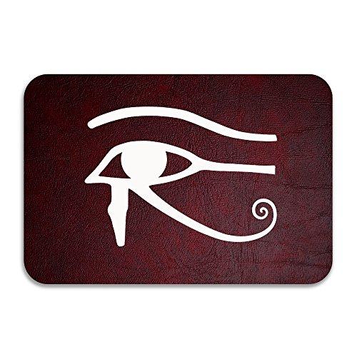 PTGIK Egyptian Logo Eye Of Horus Halloween Non-slip Doormat White