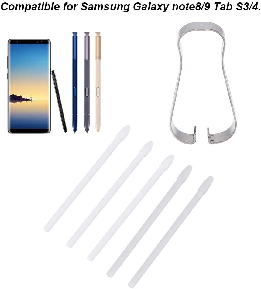Nero Ricambio S Pen Tips Nibs Stylus Pen Refill Tool Set per Samsung Galaxy Note 8//9 Tab S3 4