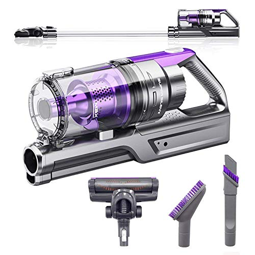 VViViD REV Bigfoot Turbo Purple Cordless Stick Vacuum Cleaner w/Lithium Ion Battery