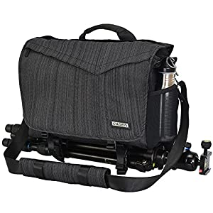 "Best Epic Trends 51Lu7-R2SfL._SS300_ CADeN Camera Bag Case Shoulder Messenger Photography Bag with Laptop Compartment 14"", Tripod Holder, Compatible for Nikon, Canon, Sony, DSLR SLR Mirrorless CamerasWaterproof Black"