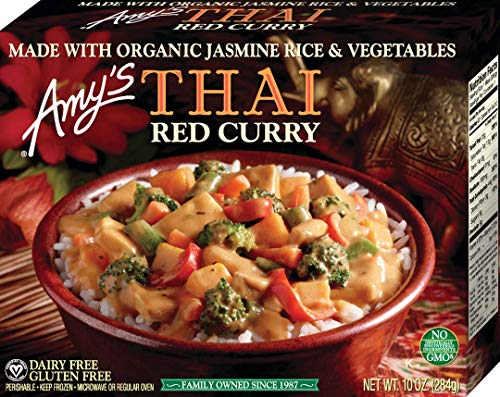 Amy's   Asian Meals, Gluten Free Thai Red Curry, 10.0 Ounce (Frozen)