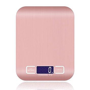 Báscula digital de cocina multifunción para carne con pantalla LCD para hornear cocina, 5 kg