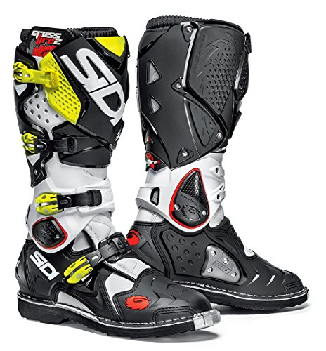 Offroad Boots White Black Yellow (US 11) (2 Off Road Boot)