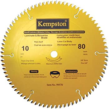 Kempston 99570 10 Inch By 80 Tooth Professional Thin Kerf