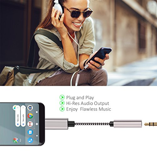 Hzmirzk Pixel 2 USB C to 3 5mm Audio Adapter, Type C to 3 5mm Audio  Headphone Jack Adapter Compatible with Google Pixel 2/2XL/HTC/Essential