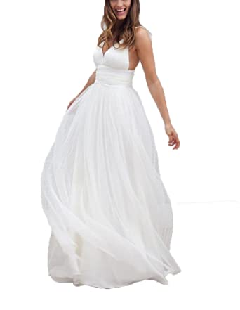 hiprom beach wedding dresses backless bridal gowns formal dresses