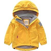 LAPLBEKE Bebé Niñas Capucha Chaquetas-Niños Impermeable A Prueba de Viento Fleece Abrigos-Primavera Otoño Ropa Al Aire…