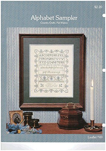 ALPHABET SAMPLER by Pat Waters Cross Stitch Leaflet # (Leaflet Alphabet Sampler)
