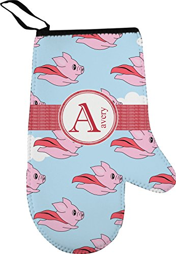 Flying Pigs Right Oven Mitt (Personalized)