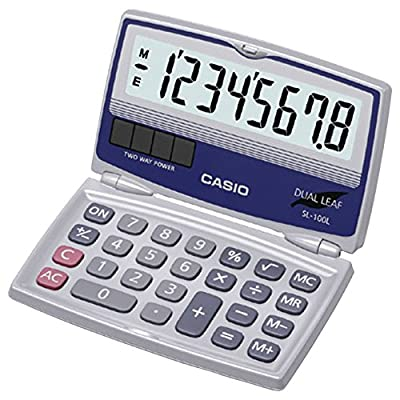 CASIO Solar Calculator with Folding Hard Case SL100L SL-100L 79767162825