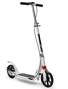 LJHBC Patinete Altura Ajustable Scooter Adulto Frenos de ...
