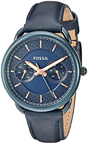Fossil-Womens-Quartz-Stainless-Steel-and-Leather-Casual-Watch-ColorBlue-Model-ES4092