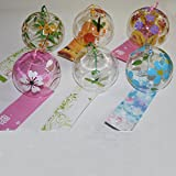 ACEVER 6-piece Pack Wind Bell Japanese Wind Chimes with Hand Painted Drawings
