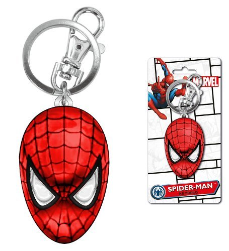 Marvel Spider-Man Colored Head Pewter Key Ring by Marvel