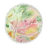 KESS InHouse Rosie Brown Gift Wrap Multicolor Pastel Round Beach Towel Blanket