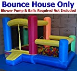 Bounce House Only - My Bouncer Little Castle Bounce 88'' L x 118'' W x 72'' H Popper w/ Built-in Ball Pit; Hoop & Step (BLOWER PUMP & BALLS REQUIRED but NOT INCLUDED)