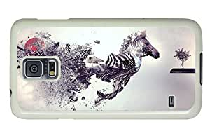 Hipster Samsung Galaxy S5 Case thinnest Zebra Abstract Art PC White for Samsung S5