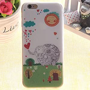 QYF Prairie Pattern TPU Relief Thin Transparent All Inclusive Back Cover Case for iPhone 5/iPhone 5S