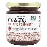 Premium Japanese Chili Miso Oil - Savoury, Umami-Rich Condiment Handcrafted in Canada by Abokichi - All Natural, Vegan, Non-GMO, Gluten Free, Keto-Friendly Sauce and Marinade (Chili Miso, 230ml)