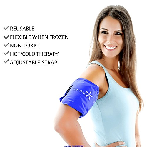 Pain Relief Flexible Ice Pack for Injuries by TheraPAQ  Hot  Cold Therapy Reusable Gel PackHeat Wrap
