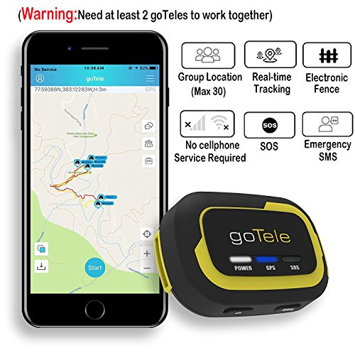 Gotele Offline Outdoor Real Time Gps Tracker For Exploration Camping Climbing Skiing And Pets Max 30 Members Gps Location Sms Sos No Sim Card Network Required  1 Pack   Need 2Pcs To Work