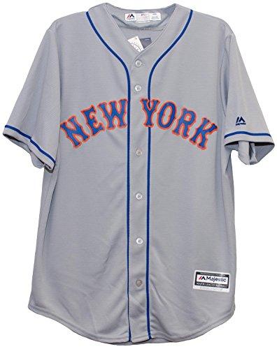 New York Mets Road Grey Cool Base Mens Replica Jersey (XXL)