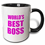 Best BIG BOSS Boss Mug Pinks - 3dRose InspirationzStore Typography - Worlds Best Boss Review