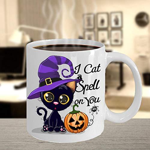 Black Cat Halloween Mug | Unique Cat Lover Cups | Halloween Black Cat Mug | Halloween Mug | Funny Cat Mug| Black Cat Mug | Halloween Gift