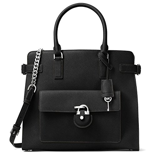 Michael Kors Emma Large North South Saffiano Leather Tote (Black) by Michael Kors