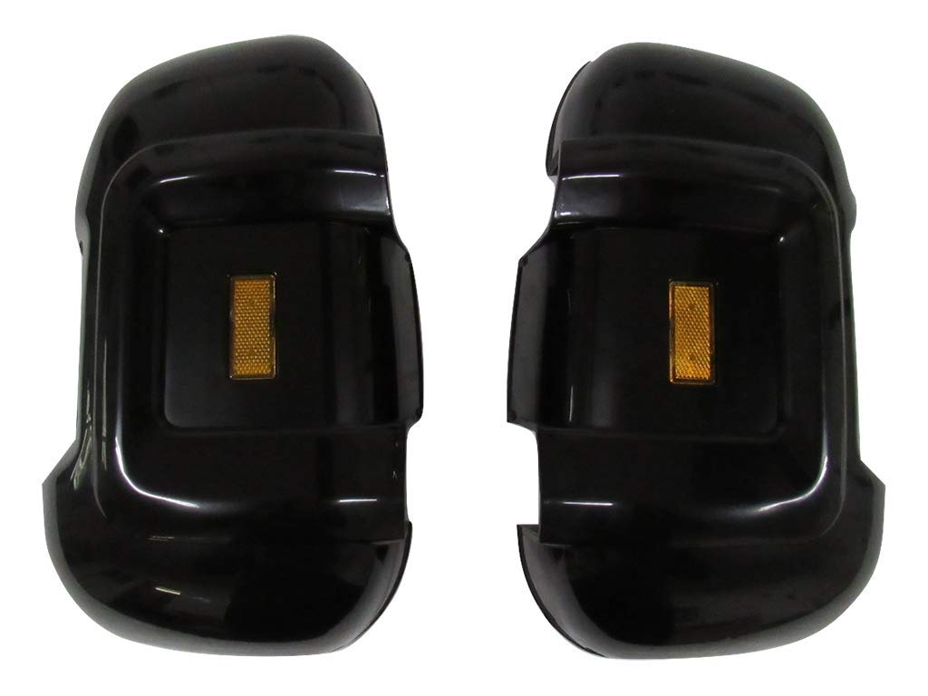 Long Arm Black Wing Mirror Protectors with Reflectors