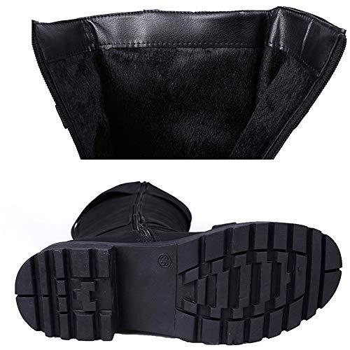 Genoux Premium Kaiki 35 Noir Boucle Pour Bottes Chaussures Hiver Moto Romaine Aux Femmes Longues bottes 43 Bottes taille IIxRwU