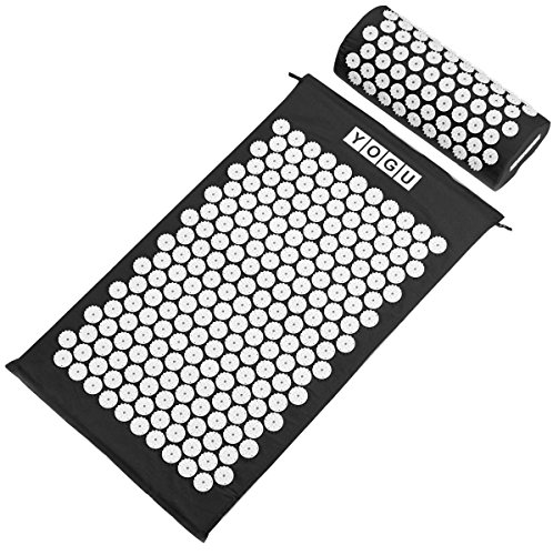 Acupressure Mat and Pillow Set for Back and Neck Pain Relief and Muscle Relaxation Relieves Stress