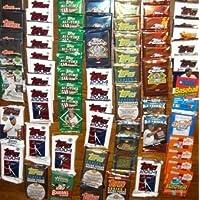 Rookies HQ 50 Paquetes originales sin abrir de tarjetas de béisbol nuevas y de época (1986-2010) MÁS Paquete 100 Mangas blandas