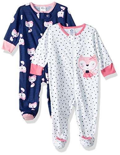 Gerber Baby Girls' 2-Pack Sleep 'N Play, Fox, 3-6 Months