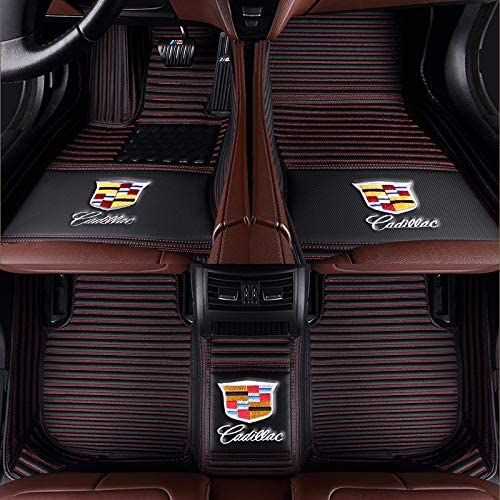 Fit for Cadillac SRX CTS Escalade Coupe Sedan SUV 2005-2019 All Weather Car-Styling Custom Luxury Leather Waterproof Floor Mats Logo