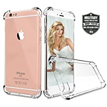 iPhone 6s plus Case, iPhone 6 plus Case, AOOBOX Crystal Clear Shock Absorption Technology Bumper Soft TPU Cover Case for Apple iPhone 6/6S plus-(Clear)