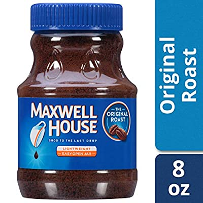 Maxwell House Original Instant Coffee in Plastic Jar 8 oz ( Pack of 12 ) by Maxwell House
