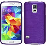 Silicone Case for Samsung Galaxy S5 Neo - brushed purple - Cover PhoneNatic + protective foils