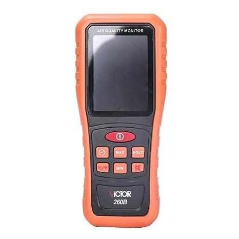 lennonsi Detector Inicio Monitor de Calidad de Aire Profesional Detector de autoprueba de Interior PM2.