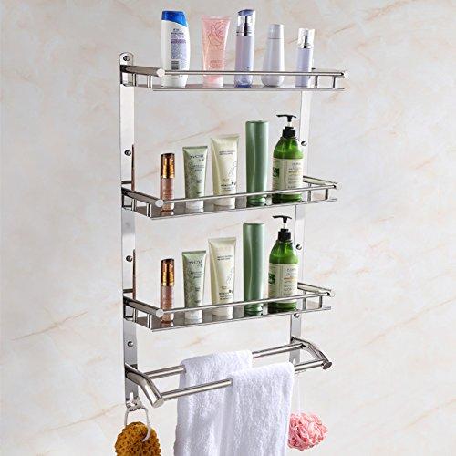 Stainless steel bathroom shelf /the shelf in the bathroom/Wall-mounted toilet/ bathroom pendant/towel rack-X new
