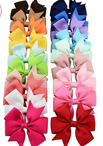 Dana Basics Baby Girl None Slip Bow Tie Alligator Hair Clips, Assorted Color
