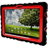Gumdrop Cases Drop Tech Series Case for Asus EEE Pad Transformer TF101, Black/Red (DT-ASUS-BLK-RED)