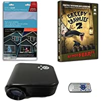 Virtual Reality Halloween Projector Value Kit with Creepy Crawlies 2 AtmosFEARFx DVD and Screen