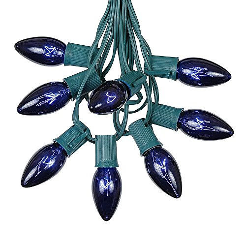 Blue C9 Led Christmas Lights in US - 8