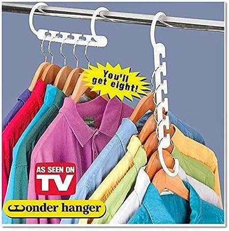 8 Escudo de ahorro de espacio Percha m/ágica Wonder Hanger