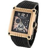 Stuhrling Original Men's 269.332Q641 Madman L.E. Swiss Chrono Black Dial Watch